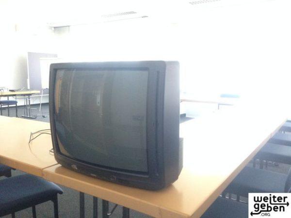Spende in München, funktionierendes Fernsehgerät