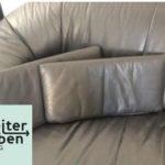 Spende 1 x Schwarzes Kunstledersofa Gebrauchter guter Zustand 1 x Dazugehöriger Sessel