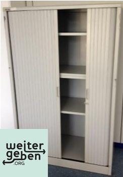 gespendet wird in Stuttgart Hellgrauer Büroschrank 1 x 100x47x153 cm Kein Schlüssel mehr vorhanden starke Gebrauchtspuren