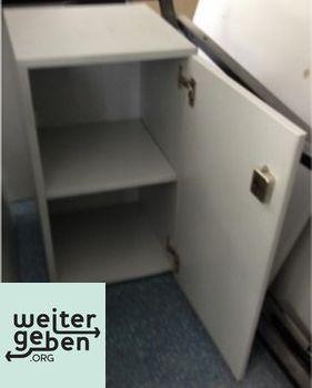 Spende: Lichtgrauer Büroschrank 1 x 40x42x74 cm (BTH) Schlüssel vorhanden