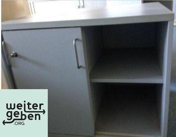 Lichtgrauer Büroschrank 1 x 80x60x66 cm (BTH) Schlüssel vorhanden, Schloss klemmt etwas