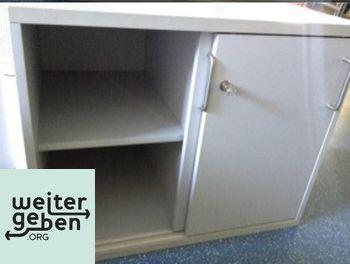 Stuttgart: Lichtgrauer Büroschrank 1 x 80x60x66 cm (BTH) Schlüssel vorhanden, Schloss klemmt etwas