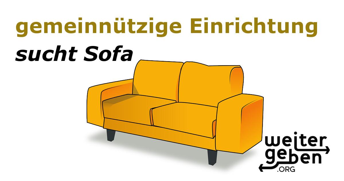 Die Spendeninitiative WeiterGeben.org sucht für eine gemeinnützige Organisation in Berlin zwei Sofas und ein Sessel