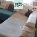 moderne Couch in Kassel zu verschenken, große Couch in Hessen zu spenden