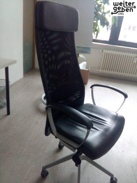 dieser Bürostuhl wird im Rahmen einer Büroauflösung gespendet