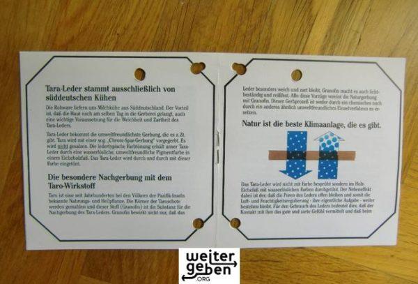 Leder-Zertifikat zur Sachspende in Berlin-Kladow