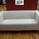 für gemeinnützige Vereine und Einrichtungen werden diese zwei Ikea Sofas in Berlin gespendet
