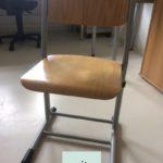 27 gebrauchte Stühle, Metallrahmen, Holzsitz und Holzlehne (teilweise verschiedene Hoehen) werden in Heidelberg abgegeben