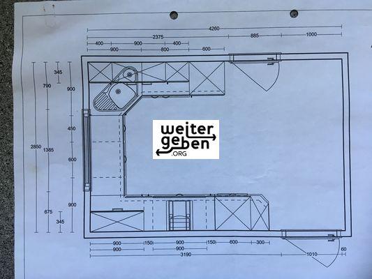 Bauplan der Küche - wird an gemeinnützigen Verein o. Einrichtung gespendet