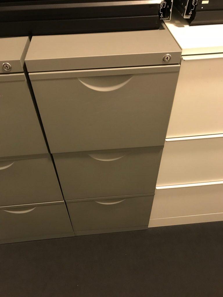 Metallschrank grau Hängeregister A190075