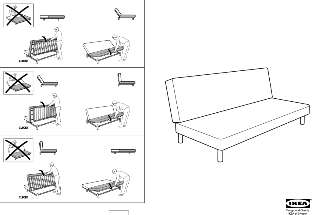 Anleitung Beddinge Ikea