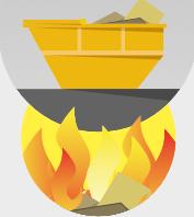 Infografik Altmöbel Verbrennung