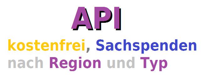 API digitale Schnittstelle für Sachspenden Daten