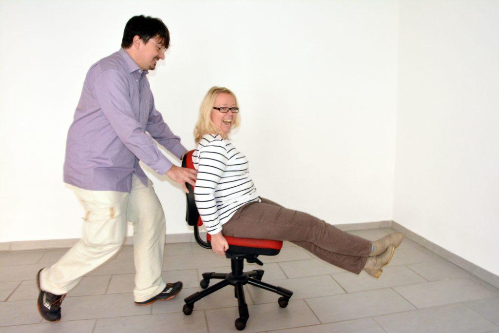 zu sehen: Das Gründerteam Harald und Daniela