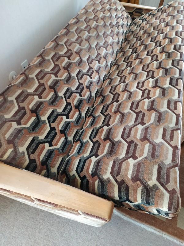 retro Sofa grau abgesuft Rauten
