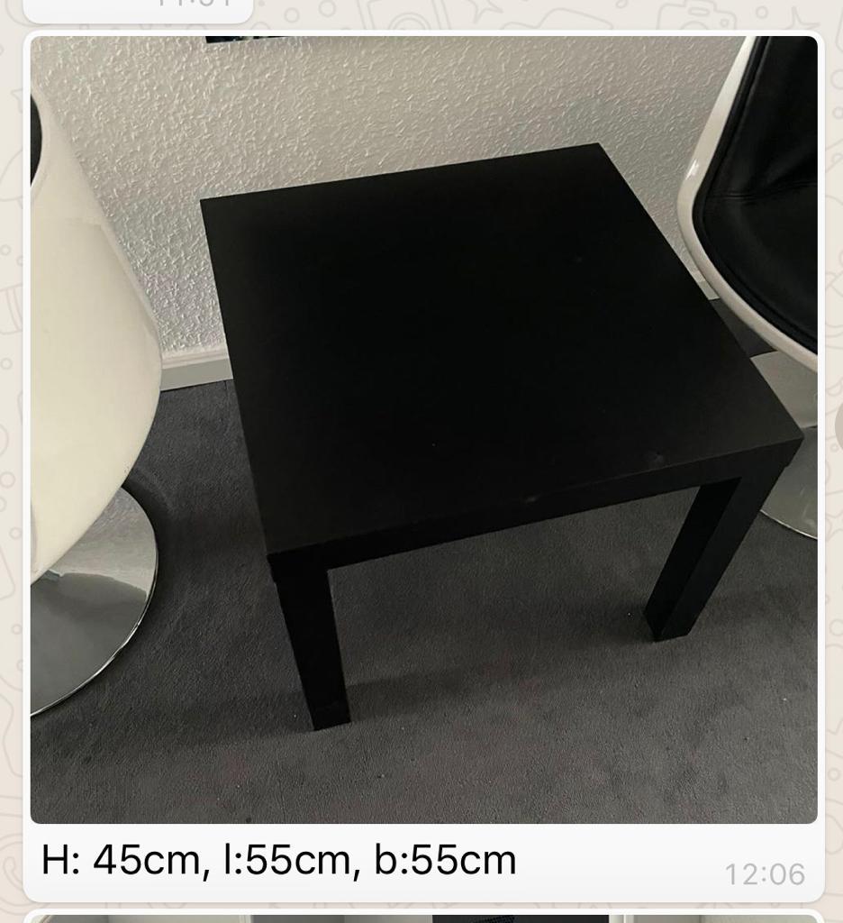45cm hoher kleiner leichter Ikea Tisch