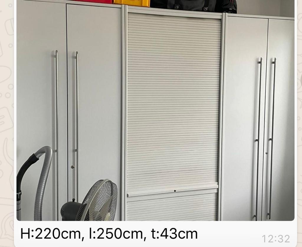 2,5meter breiter moderner Büroschrank