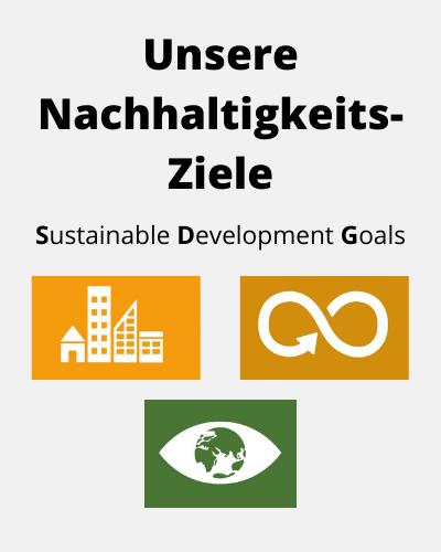 Nachhaltige Städte und Gemeinden, Nachhaltiger Konsum, Nachhaltige Produktion, Klimaschutz Maßnahmen