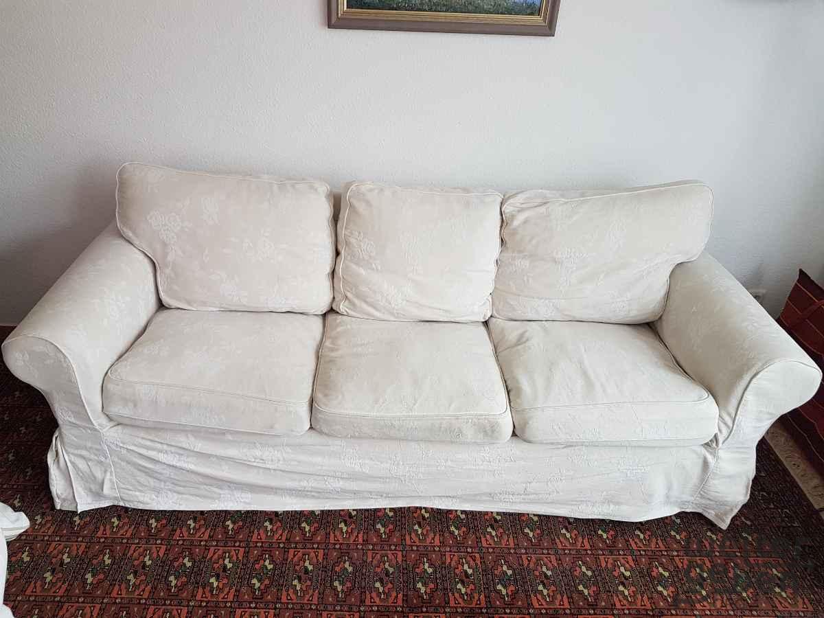 weißes 3er Sofa von Ikea in Dallgow-Döberitz