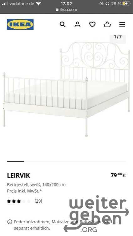 Bett in Gersthofen