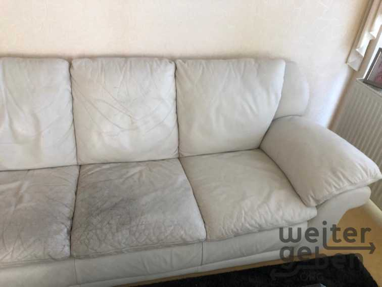 Leder-Couch mit Sessel in Berlin