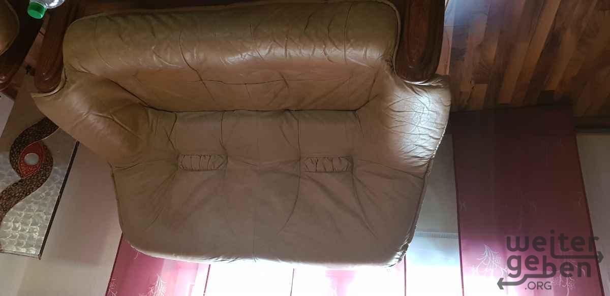Ledersofa 2 Sitzer in Langenselbold