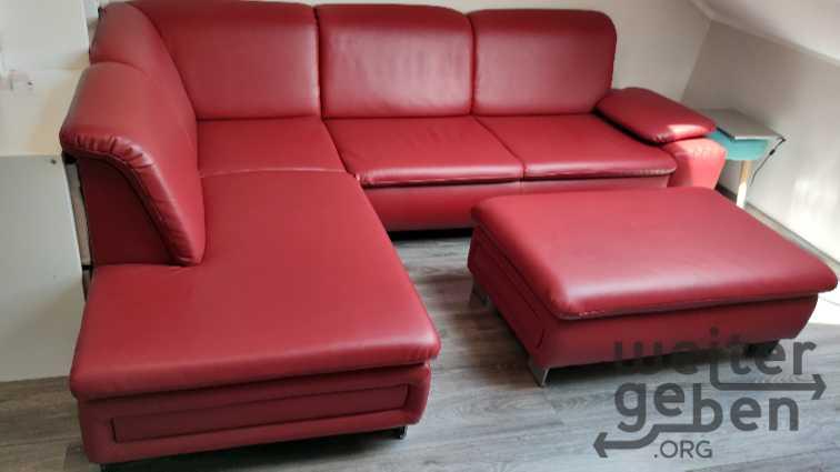 Sofa mit Hocker inkl. Schlaffunktion in Maisach