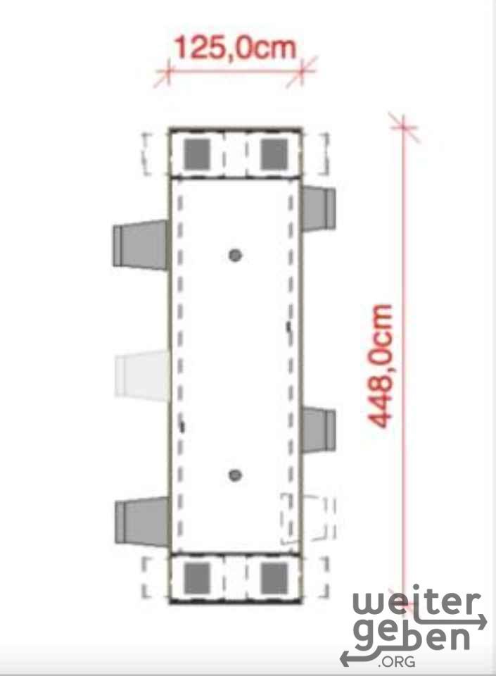 4,5meter lager Besprechungstisch in Berlin