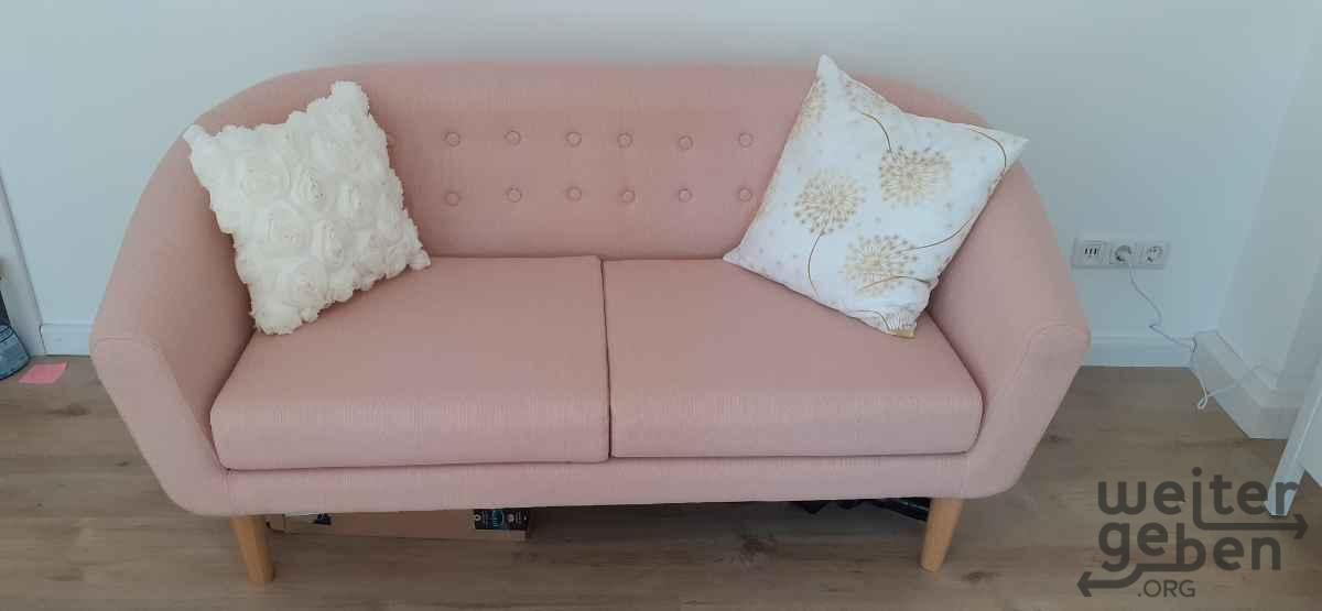 rosa Sofa in Darmstadt